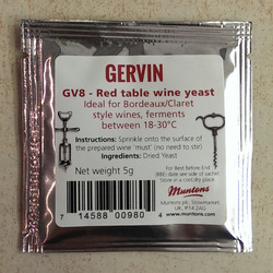 Gervin - GV8 - Red Table Wine Yeast